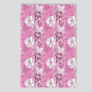 Pink Hawaiian Flowers Postcards (Package of 8)