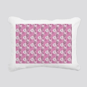 Pink Hawaiian Flowers Rectangular Canvas Pillow
