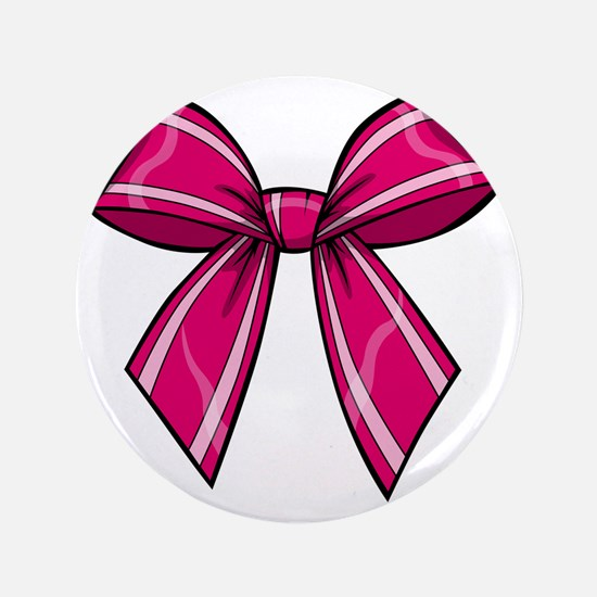 """Bow Pink 3.5"""" Button"""