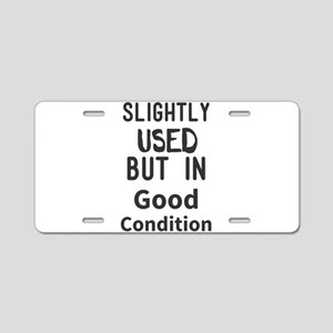 Slightly Used But In Good C Aluminum License Plate