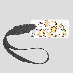 Kawaii Hamster Pile Small Luggage Tag