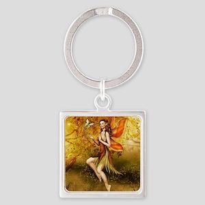 Fall Fairy Square Keychain