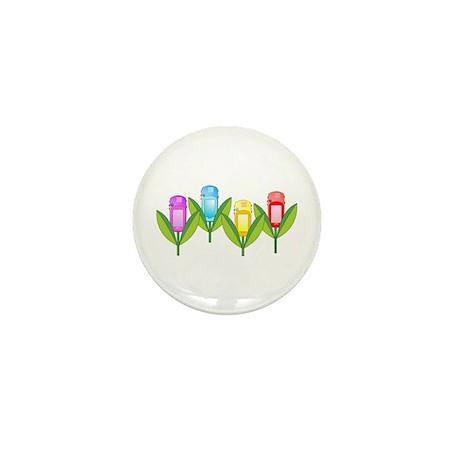 GPS Flowers Mini Button