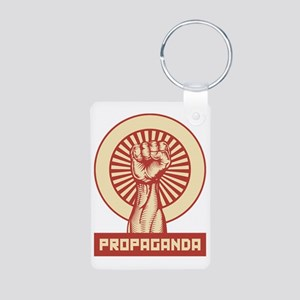 Propaganda Fist Aluminum Photo Keychain