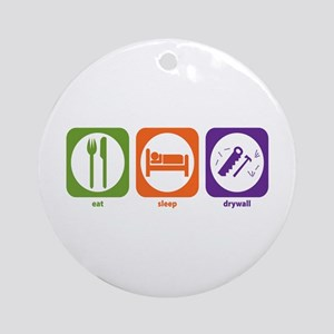 Eat Sleep Drywall Ornament (Round)