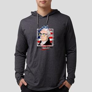 Alexander Hamilton in Color Long Sleeve T-Shirt