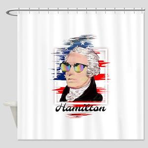 Alexander Hamilton in Color Shower Curtain