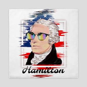 Alexander Hamilton in Color Queen Duvet