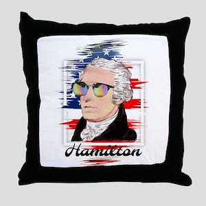 Alexander Hamilton in Color Throw Pillow