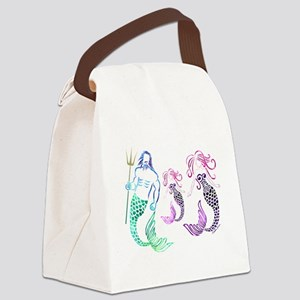 Mystical Mermaid Family Canvas Lunch Bag