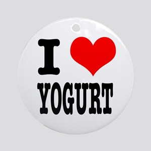 I Heart (Love) Yogurt Ornament (Round)