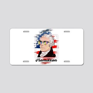Alexander Hamilton in Color Aluminum License Plate