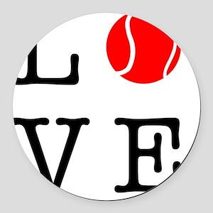 Love Tennis Round Car Magnet