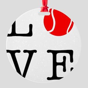 Love Tennis Round Ornament