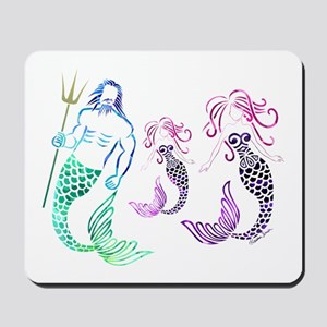 Mystical Mermaid Family Mousepad