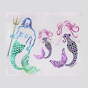 Mystical Mermaid Family Throw Blanket
