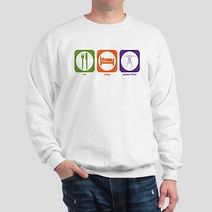 Eat Sleep Power Lines Sweatshirt
