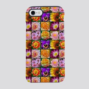 Colorful flower collage iPhone 7 Tough Case