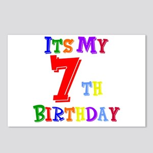 7th Birthday Postcards (Package of 8)