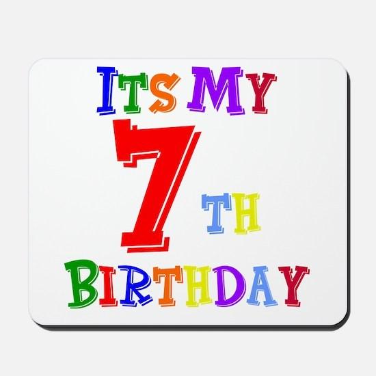 7th Birthday Mousepad