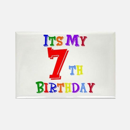 7th Birthday Rectangle Magnet