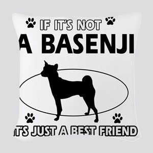 A Basenji is more than Woven Throw Pillow