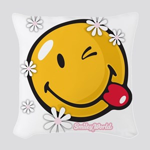 flower me Woven Throw Pillow