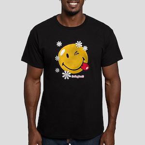 flower me Men's Fitted T-Shirt (dark)