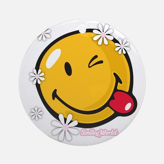 flower me Round Ornament