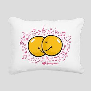 music and love Rectangular Canvas Pillow