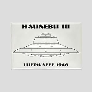 Nazi UFO - Haunebu III Mug Rectangle Magnet