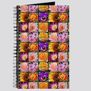 Colorful flower collage Journal