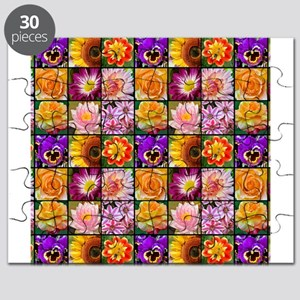 Colorful flower collage Puzzle