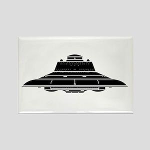 Nazi UFO - Haunebu III Rectangle Magnet