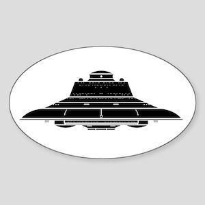 Nazi UFO - Haunebu III Sticker (Oval)