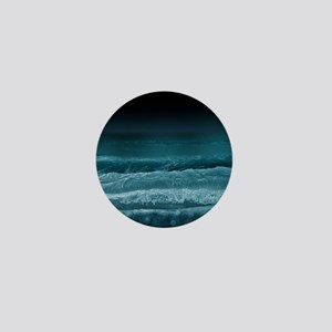 Night  Ocean Waves Mini Button