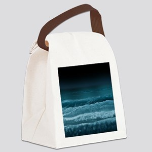 Night  Ocean Waves Canvas Lunch Bag