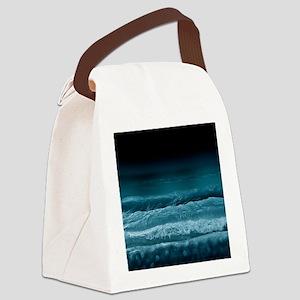 Night  Ocean Waves Canvas Lunch Bag