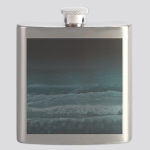 Night  Ocean Waves Flask