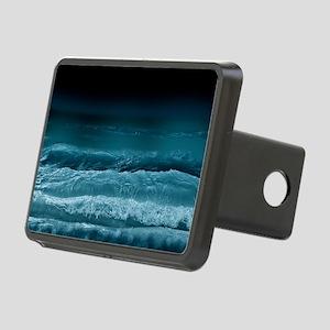 Night  Ocean Waves Rectangular Hitch Cover
