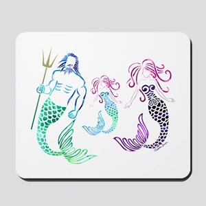 Mystical Mermaid Family Mousepad