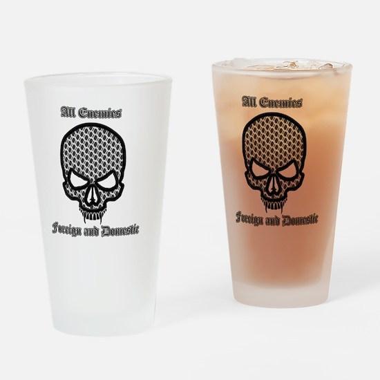 All Enemies Skull Drinking Glass
