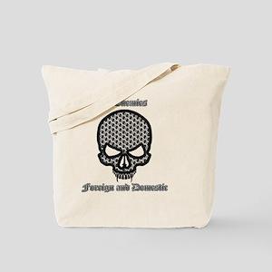 All Enemies Skull Tote Bag