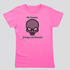 All Enemies Skull Girl's Tee