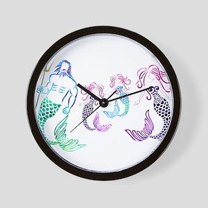 Mystical Mermaid Family Wall Clock
