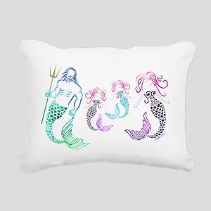 Mystical Mermaid Family Rectangular Canvas Pillow