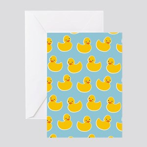 Cute Ducky Pattern Greeting Card