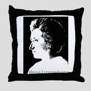 Rosa Luxemburg Throw Pillow