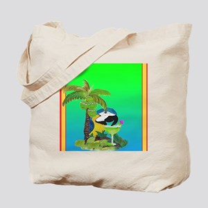 Parrot and Margarita Tote Bag