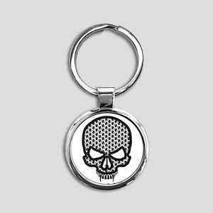 All Enemies Skull Round Keychain